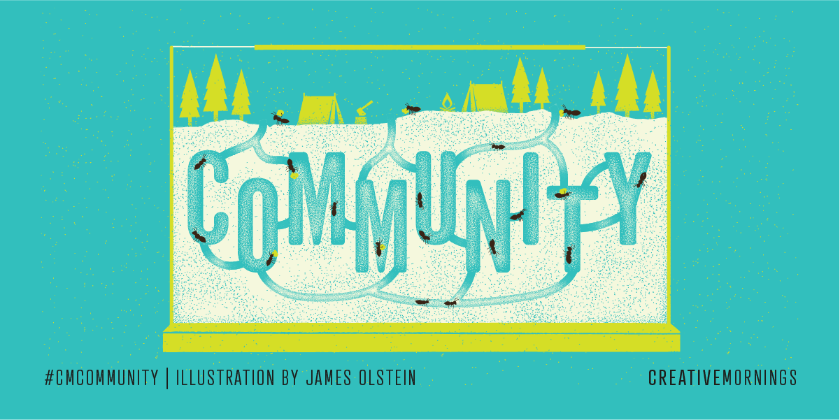 Image showing an illustration for the Creative Mornings theme for August