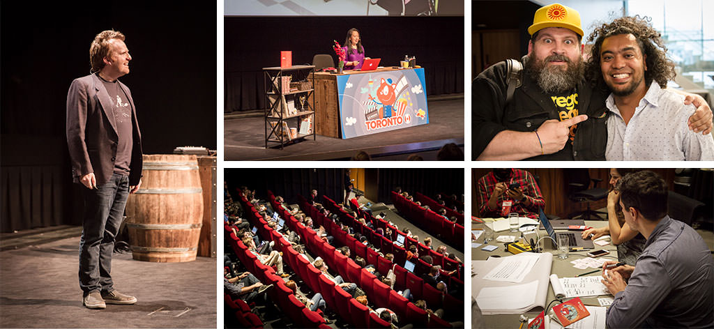 Image shows a collage of photos from Smashing Conference in Toronto
