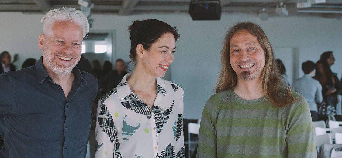 Photo showing Rainer, Lisa and me at CreativeMornings Düsseldorf